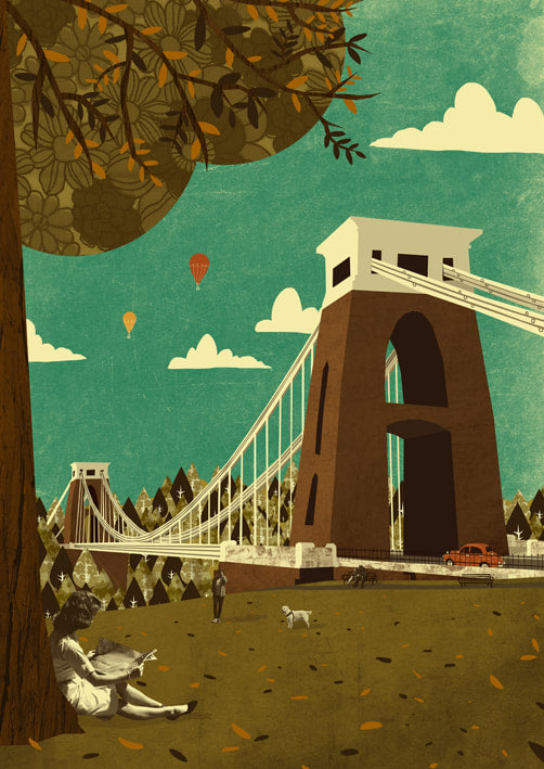Clifton Suspension Bridge View A3 Print - Emily Lou Holmes