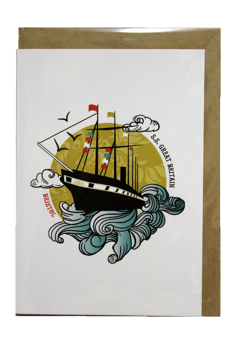 S.S Great Britain Greeting Card - Susan Taylor