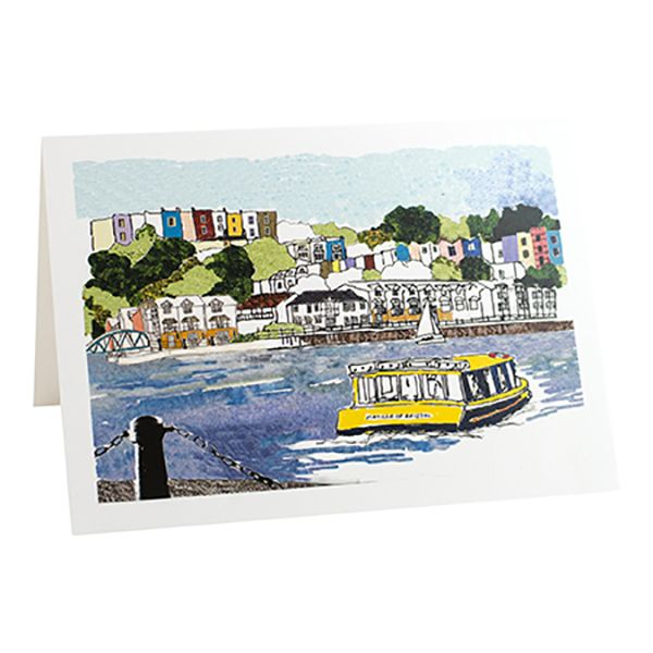 Harbourside View Greeting Card - Emmeline Simpson