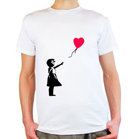 Banksy 'Girl with Heart Balloon' T-Shirt