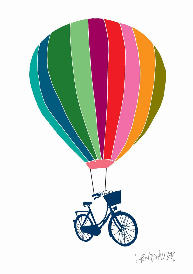 Bike Balloon Print - Hannah Broadway
