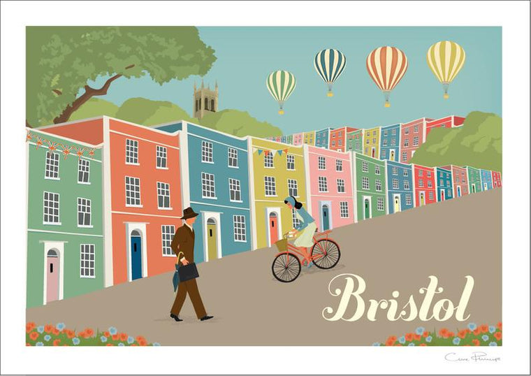 Bristol Colourful Houses Art Print by Clare Phillips