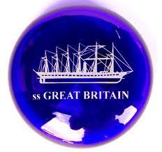 Bristol Blue Glass SS Great Britain