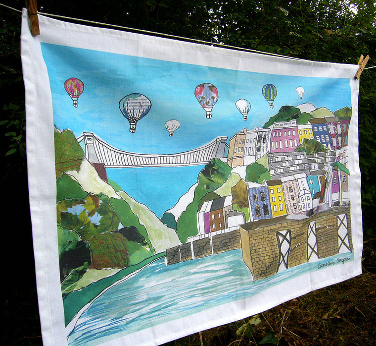 Clifton Balloons Bristol Tea Towel - Emmeline Simpson