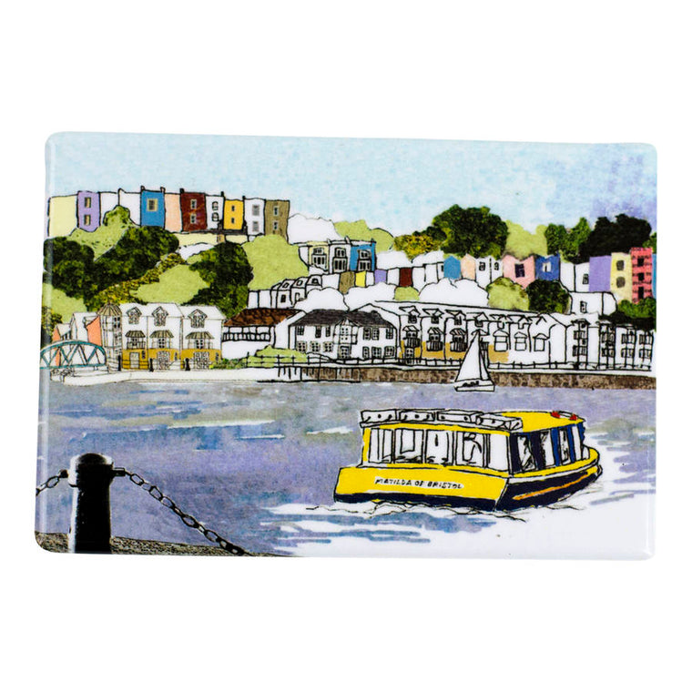 Harbourside View Bristol Fridge Magnet - Emmeline Simpson