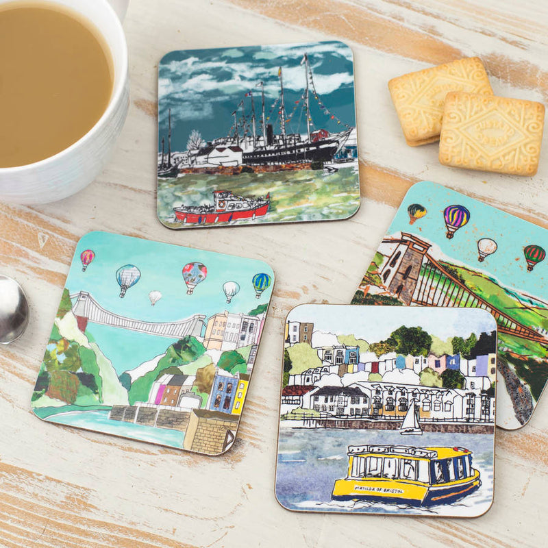 Set of Four Bristol Coasters - Emmeline Simpson