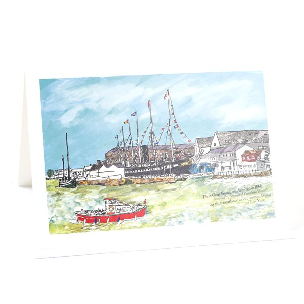 SS Great Britain Bristol Greeting Card - Emmeline Simpson