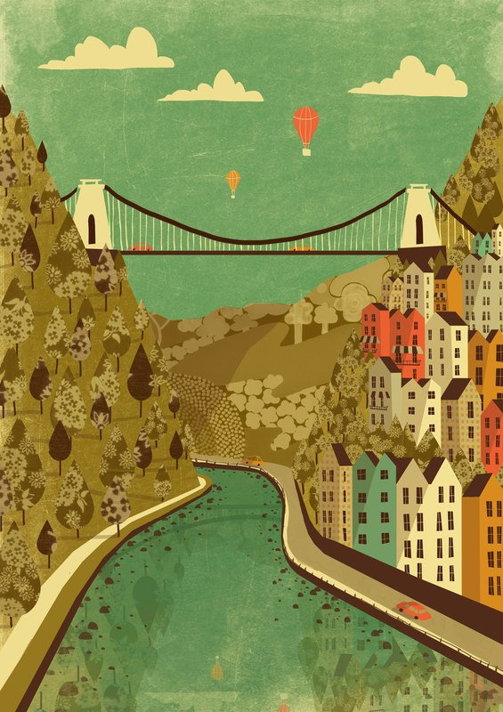 Clifton Suspension Bridge A3 Print - Emily Lou Holmes