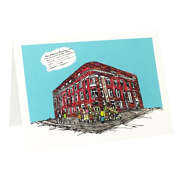 Tobacco Factory Bristol Greeting Card - Emmeline Simpson