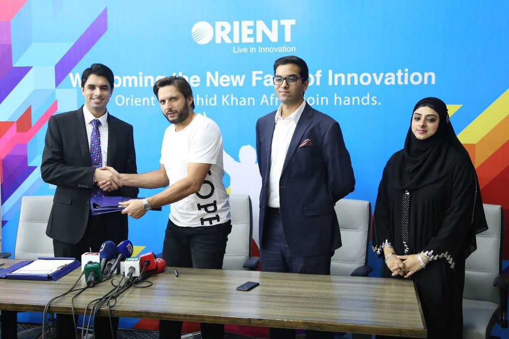Orient Group Signs Shahid Afridi as their Brand Ambassador