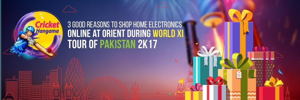 3 Good Reasons to Shop Home Electronics Online during World XI tour of Pakistan 2K17