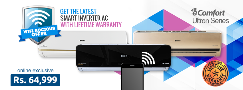 Orient Launches Wifirocious Offer on its Smart Edition Inverter ACs