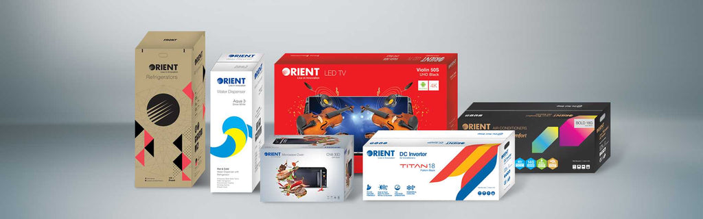 Orient home appliances product packaging