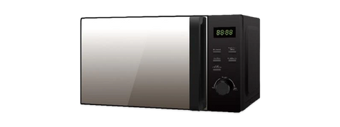 Black microwave oven