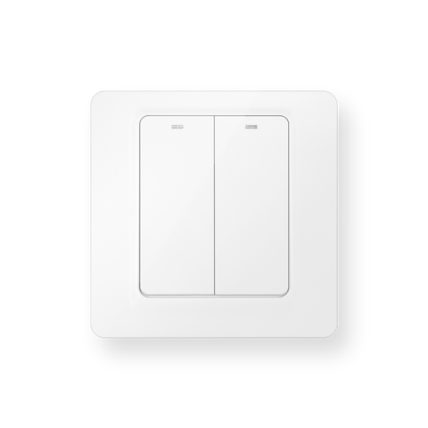 Luna Electric Switches 2-Gang White