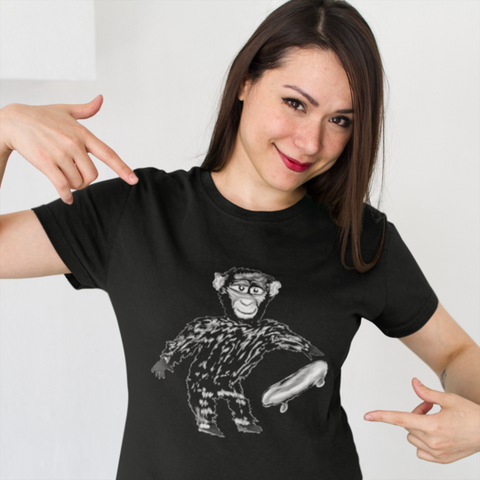 Chimp with Skateboard T-Shirt