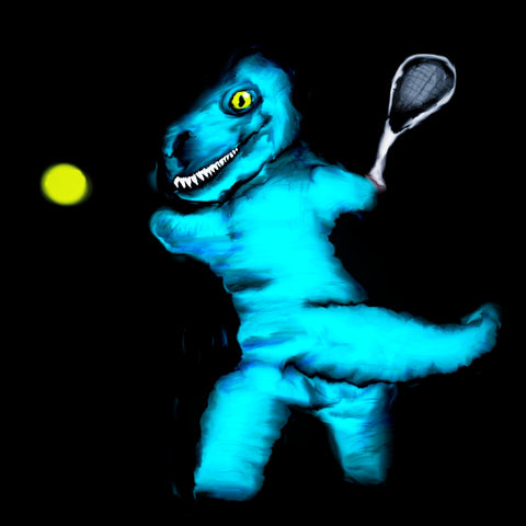 T rex playing tennis