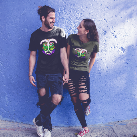 Unisex Surfing T-Shirt Green Man