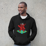 Cool Unisex Dinosaur Hoodie Triceratops night fever