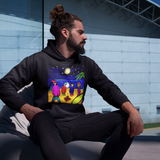 Cool Unisex surfing hoodie campfire tales