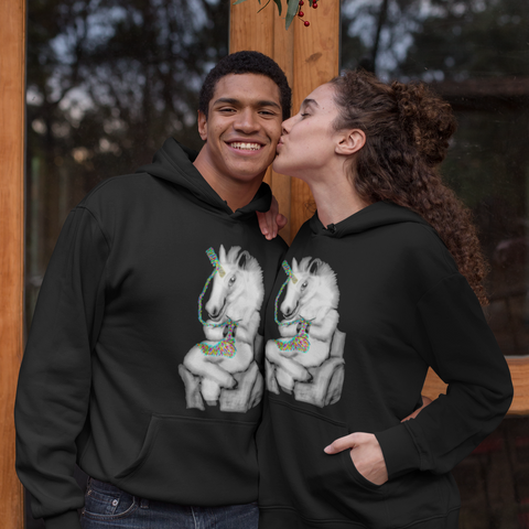 Cool Unisex animal hoodie knitting unicorn