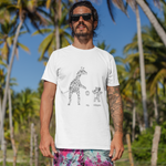 Unisex T-Shirt Koala and Giraffe playing basketball