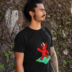 Unisex Dinosaur T-Shirt Triceratops night fever
