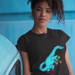 Cool Unisex Dinosaur T-Shirt Diplodocus playing basketball