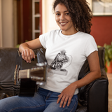 Unisex T-Shirt Crested Black Macaque DJ