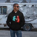 Cool Unisex Dinosaur Hoodie Dinosaurs playing chess