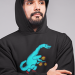 Cool Unisex Dinosaur Hoodie Diplodocus playing basketball