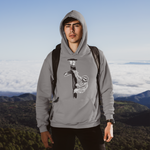 Cool Unisex Animal hoodie Sloth on a lampost