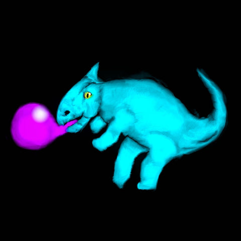 Leptoceratops blowing gum