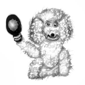Poodle with maracas