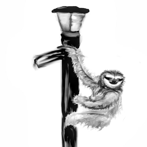 Sloth on a lampost