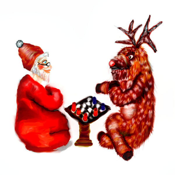 Rudolph and Santa play Chess