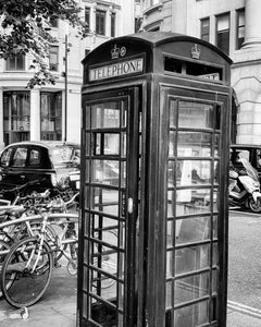 Telephone box and black cab
