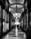 Leaden hall market in black and white