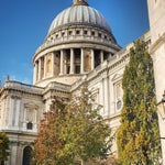 St Paul's in autumn on a sunny but chilly day.