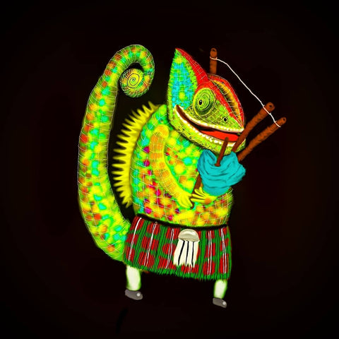 Chameleon and bagpipes