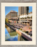 Barbican centre and reflected buildings