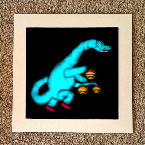 Diplodocus playing basketball