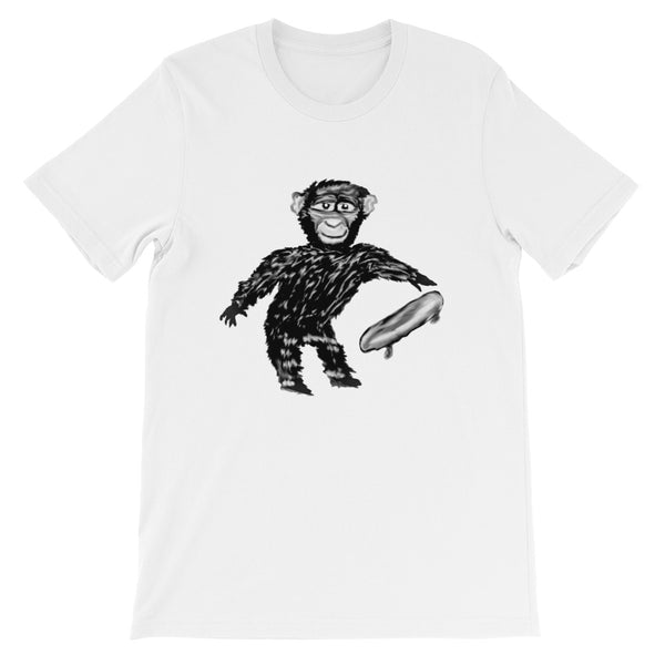 Unisex T-Shirt Chimp with Skateboard