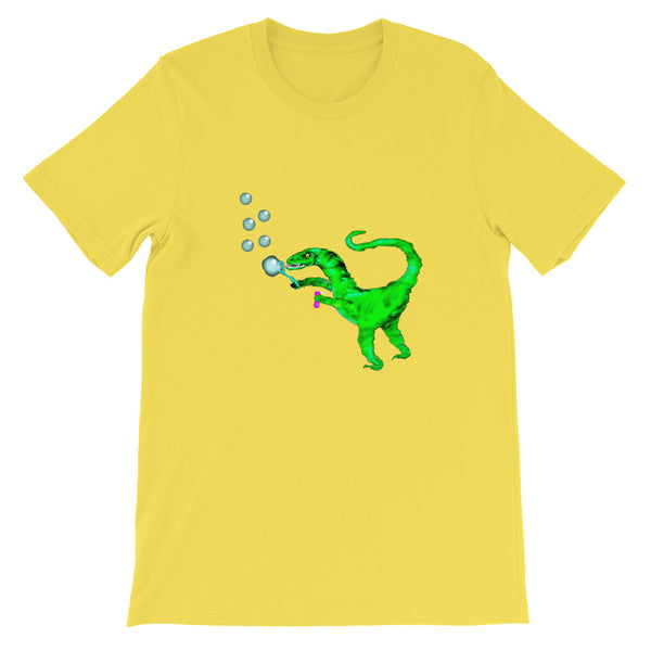 Unisex T-Shirt Velociraptor blowing bubbles