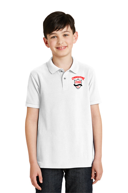 Youth - Y500 Silk Touch Short Sleeve Polo