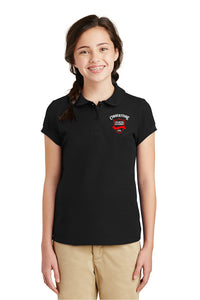 Girls - Short Sleeve Peter Pan Collar - Polo