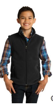 Youth Unisex Fleece Vest - Y219