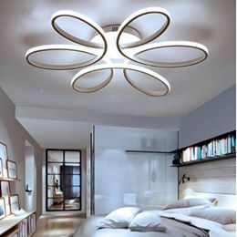 Modern LED Ceiling Lights in White or Black