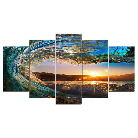 Canvas print Seascape Sunset