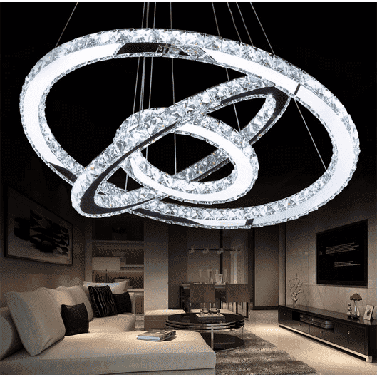 Modern Crystal Circle Chandelier